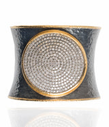 Ara Pave Diamond and 24K Gold Circle Cuff