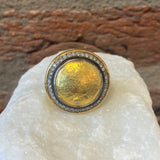 Ara Ottoman Gold Coin and Diamond Statement Ring