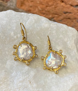 Ara Pearl and 24kt Gold Drop Earrings