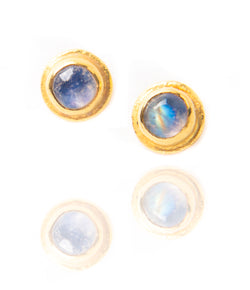 Ara Moonstone and 24kt Gold Post Earrings