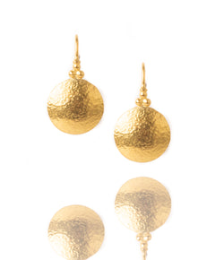 Ara 24K Small Gold Disc Earrings
