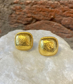 Ara 24kt Gold Square Stud Earrings
