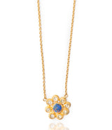 Ara Opal and Diamond Flower Necklace