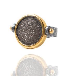 Ara Phaistos Disc Flip Ring