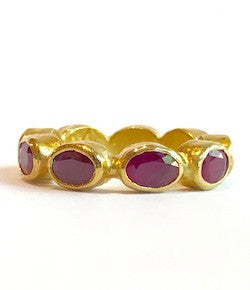 Ara 24K Ruby Eternity Ring