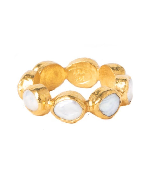 Ara Pearl and 24kt Gold Eternity Band