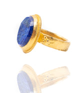 Ara Lapis and 24kt Gold Circle Ring