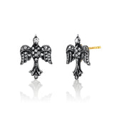 Arman Pave Diamond Bird Stud Earrings
