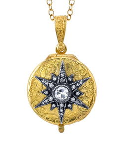 Arman Diamond Starburst Locket