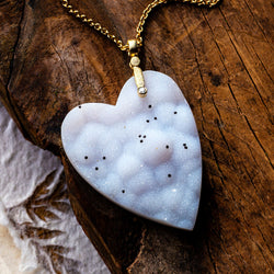 Alex Sepkus Druzy Heart and Diamond