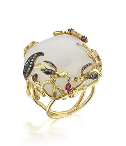 Aida Bergsen White Agate Wings Ring