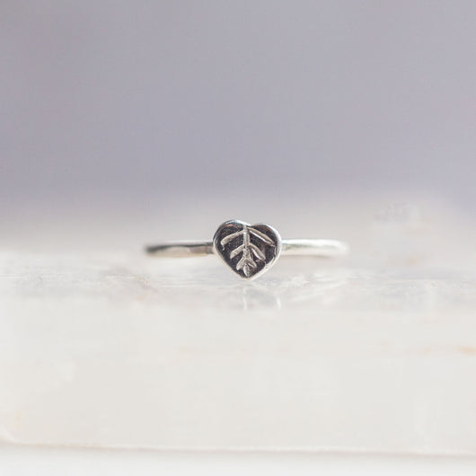 Bristol and Cole Aspen Leaf Silver Ring