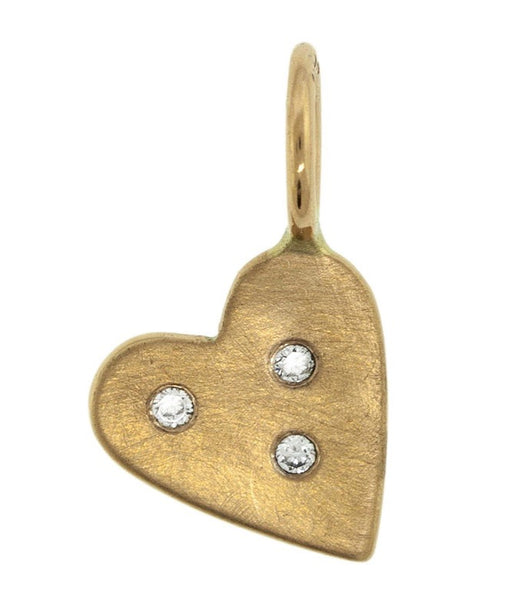 Heather Moore Yellow Gold Heart Charm
