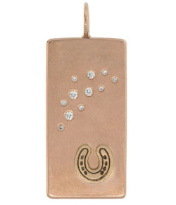 Heather Moore Rose Gold Horseshoe ID Tag Charm