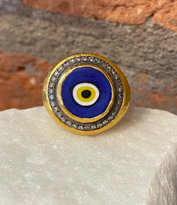 Ara Evil Eye and Diamond Ring