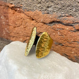 Ara 24kt Gold Open Asymmetrical Ring