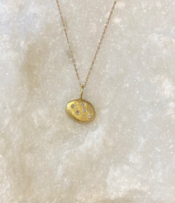 Jessica Weiss Yellow Gold Oval Necklace