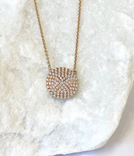Andi Alyse Large Rose Gold Darling Dot Necklace