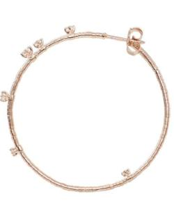 Mattia Cielo Large Rugiada Rose Gold & Diamond Hoop Earrings