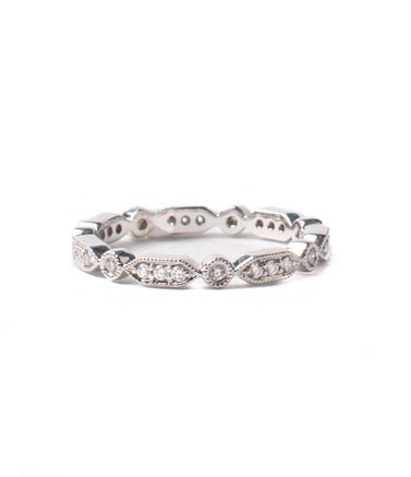 Sethi Couture White Diamond and White Gold Eternity Band