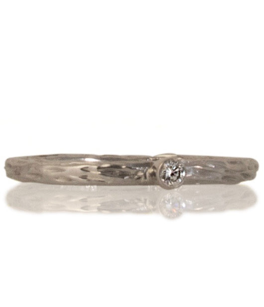 Sarah Graham Diamond and White Gold 'Pebble' Stacking Ring