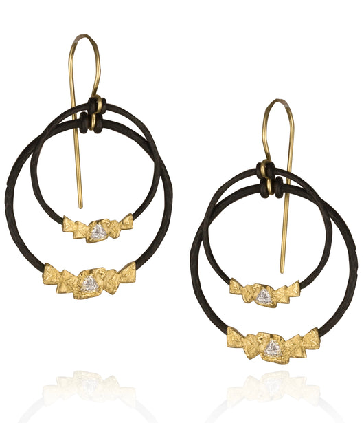 Sarah Graham 'Trigon' Double Dangle Earrings with Diamonds