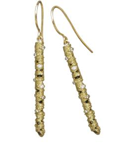 Sarah Graham 35mm 'Aspen' Stick Earrings with Diamonds