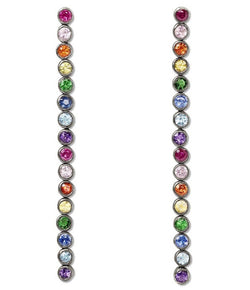 SheBee Rainbow Sapphire Drop Earrings