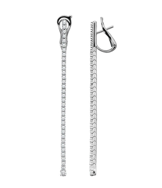 Mattia Cielo Diamond and White Gold Drop Earrings
