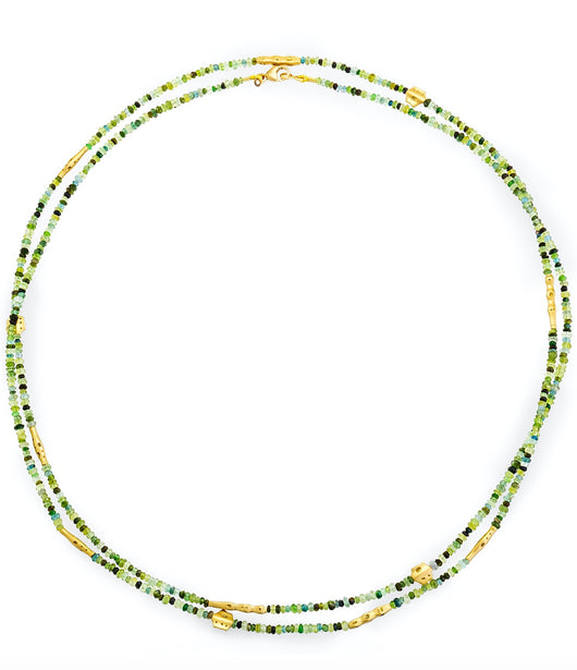 Alex Sepkus Green Tourmaline 'Flora' Beaded Necklace