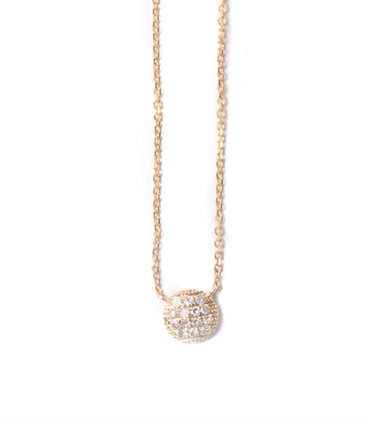Andi Alyse Small Yellow Gold Darling Dot Necklace