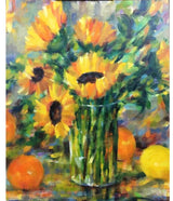 """Sunflowers Clear Vase"""