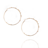 Mattia Cielo Large Rugiada Yellow Gold & Diamond Hoop Earrings