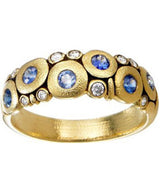 "Alex Sepkus Blue Sapphire and Diamond ""Candy"" Dome Ring"