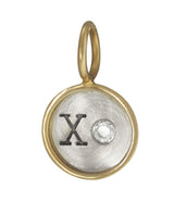 "Heather Moore ""XO"" Round Charm"