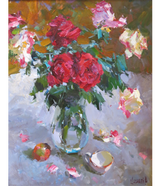 """Red and White Roses"""