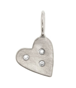 Heather Moore Sterling Silver Heart Charm