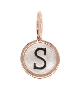 Heather Moore Silver and Rose Gold 'S' Round Charm
