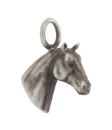 Heather Moore Sterling Silver and Patina Free Hanging Horse Charm
