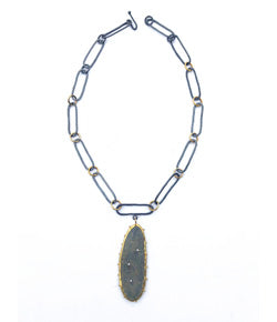 Jessica Weiss One-of-a-Kind Elongated Slate Necklace