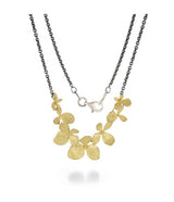 John Iversen 18kt Yellow Gold Multi Hydrangea Necklace