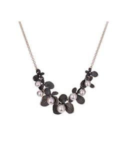 John Iversen Hydrangea Necklace with Grey Akoya Pearls
