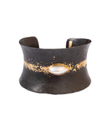 Pat Flynn Marquise Pearl and 22K Gold Dust Cuff