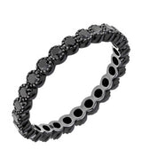 Sethi Couture Black Diamond and Black Rhodium Bezel Set Eternity Band