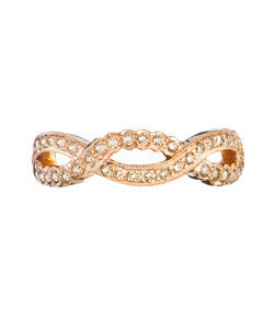 Sethi Couture Rose Gold and Brown Diamond 'Scallop' Band