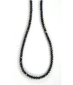 Sethi Couture Faceted Black Diamond Necklace