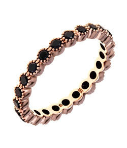 Sethi Couture Rose Gold and Black Diamond 'Bezel' Band