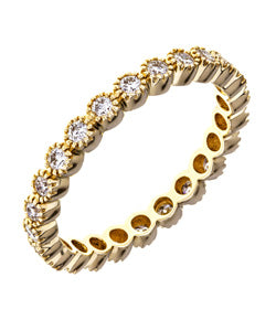 Sethi Couture Bezel Set Yellow Gold and White Diamond Eternity Band