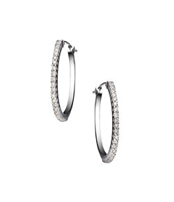 Sethi Couture White Gold Micro Prong Small Diamond Hoops