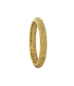 Sethi Couture Yellow Gold and Yellow Diamond Tire Eternity Band